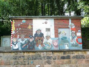 Wandbild der FrauenFreiluftGalerie